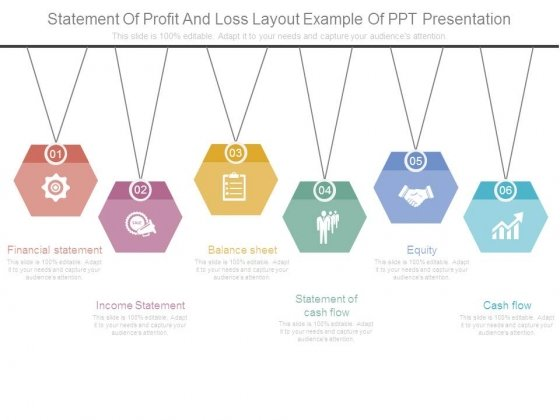 Statement Of Profit And Loss Layout Example Of Ppt Presentation