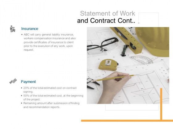 Statement Of Work And Contract Cont Ppt PowerPoint Presentation Summary Slides