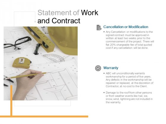 Statement Of Work And Contract Ppt PowerPoint Presentation File Model