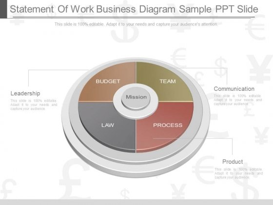 Statement Of Work Business Diagram Sample Ppt Slide - Powerpoint