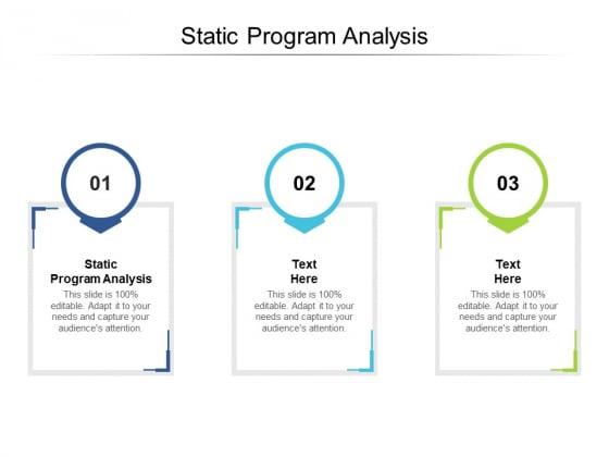 Static Program Analysis Ppt PowerPoint Presentation Gallery Ideas Cpb