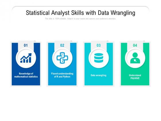 Statistical Analyst Skills With Data Wrangling Ppt PowerPoint Presentation Portfolio Templates PDF