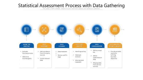 Statistical Assessment Process With Data Gathering Ppt Infographic Template Picture PDF