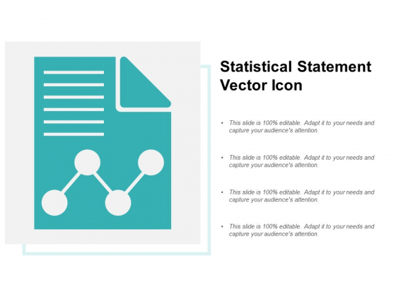 Statistical Statement Vector Icon Ppt PowerPoint Presentation Styles Graphics Pictures