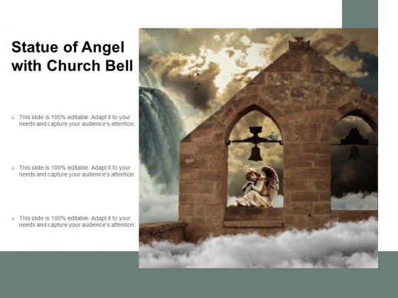 Statue Of Angel With Church Bell Ppt PowerPoint Presentation Styles Outline
