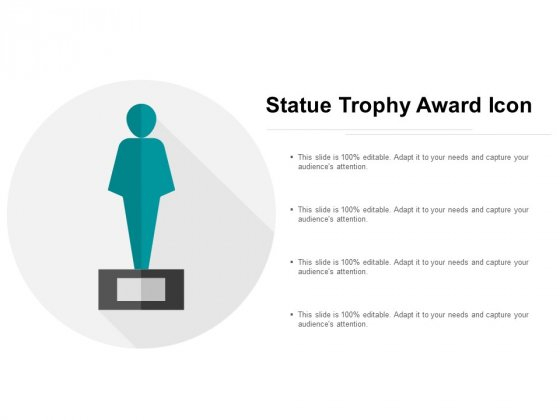 Statue Trophy Award Icon Ppt Powerpoint Presentation Model Maker