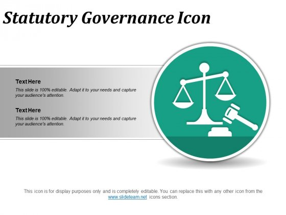 Statutory Governance Icon Ppt PowerPoint Presentation File Slide Portrait
