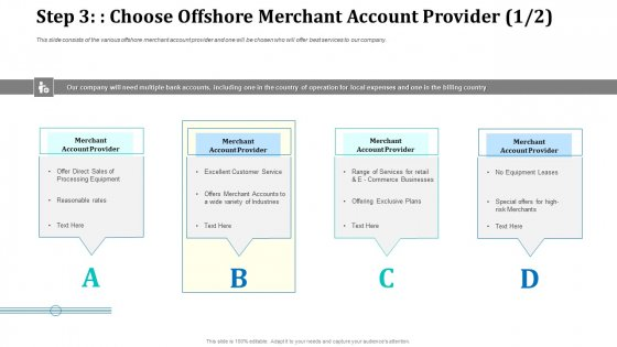 Step 3 Choose Offshore Merchant Account Provider Account Graphics PDF
