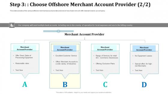 Step 3 Choose Offshore Merchant Account Provider Sales Professional PDF