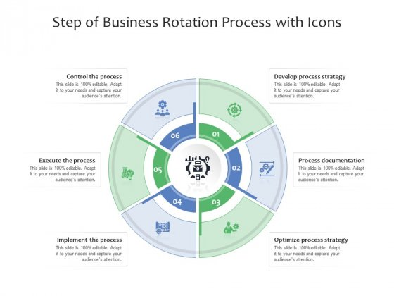Step Of Business Rotation Process With Icons Ppt PowerPoint Presentation Gallery Templates PDF