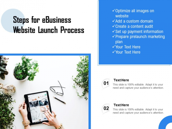 Steps For Ebusiness Website Launch Process Ppt PowerPoint Presentation File Outline PDF