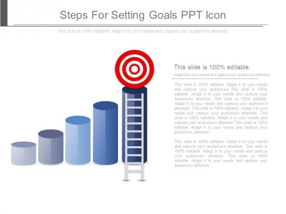 Steps For Setting Goals Ppt Icon
