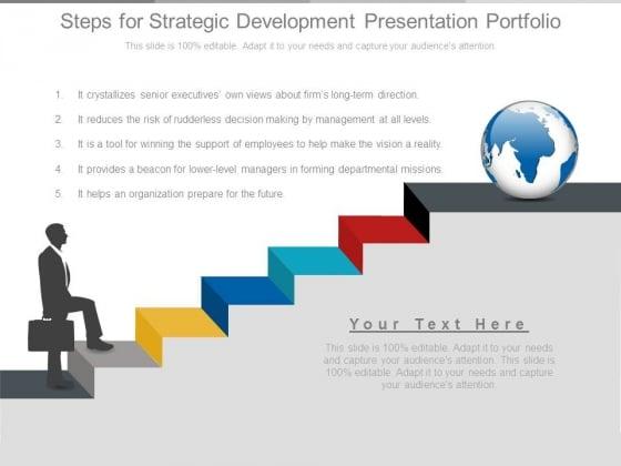 Steps For Strategic Development Presentation Portfolio