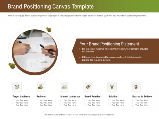 Steps For Successful Brand Building Process Brand Positioning Canvas Template Brochure PDF