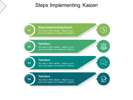 Steps Implementing Kaizen Ppt PowerPoint Presentation File Influencers Cpb