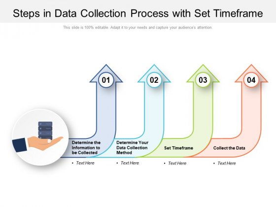Steps In Data Collection Process With Set Timeframe Ppt PowerPoint Presentation Professional Background Image PDF