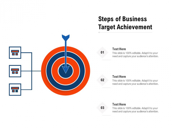 Steps Of Business Target Achievement Ppt PowerPoint Presentation Styles Icon PDF