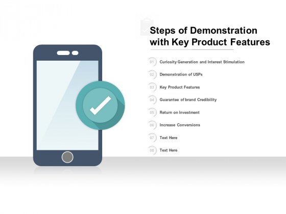 Steps Of Demonstration With Key Product Features Ppt PowerPoint Presentation Pictures File Formats