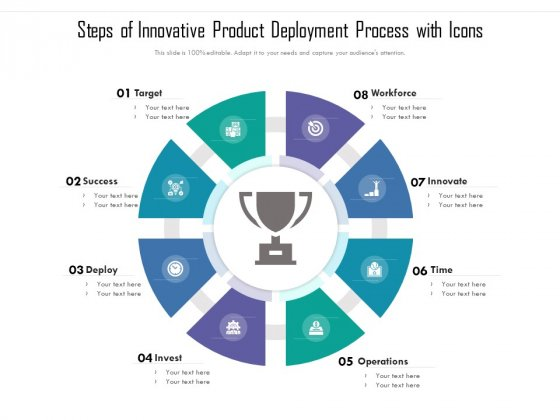 Steps Of Innovative Product Deployment Process With Icons Ppt PowerPoint Presentation Icon Diagrams PDF
