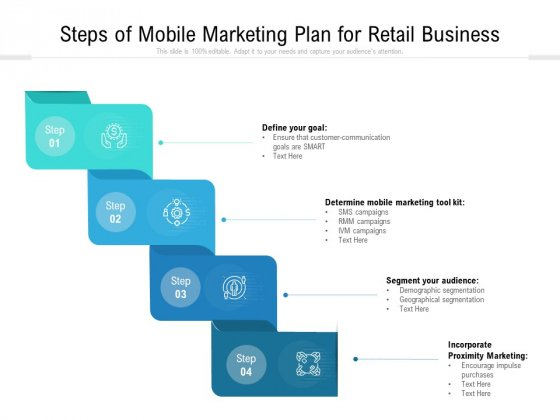 Steps Of Mobile Marketing Plan For Retail Business Ppt PowerPoint Presentation Icon Show PDF