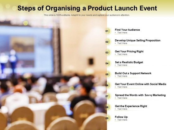 Steps Of Organising A Product Launch Event Ppt PowerPoint Presentation Professional Example