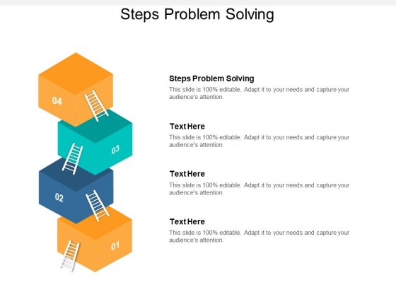 Steps Problem Solving Ppt PowerPoint Presentation Inspiration Themes Cpb