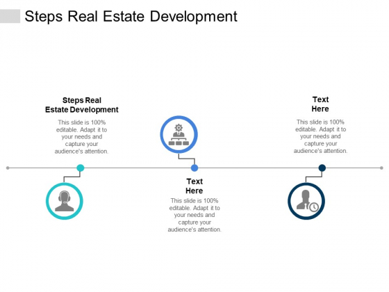 Steps Real Estate Development Ppt PowerPoint Presentation Infographics Background Cpb