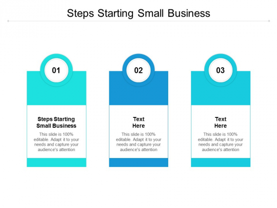 Steps Starting Small Business Ppt PowerPoint Presentation Professional Objects Cpb