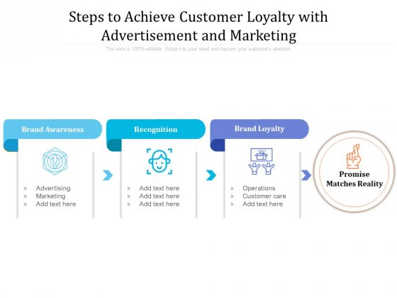 Steps To Achieve Customer Loyalty With Advertisement And Marketing Ppt PowerPoint Presentation Infographic Template Graphics PDF