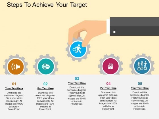 Steps To Achieve Your Target Powerpoint Templates