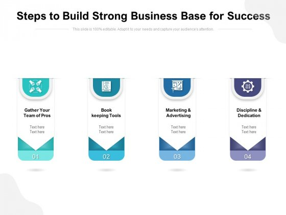Steps To Build Strong Business Base For Success Ppt PowerPoint Presentation Gallery Format Ideas PDF