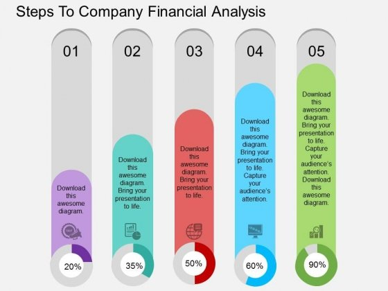 Steps To Company Financial Analysis Powerpoint Template – Financial Analysis Template