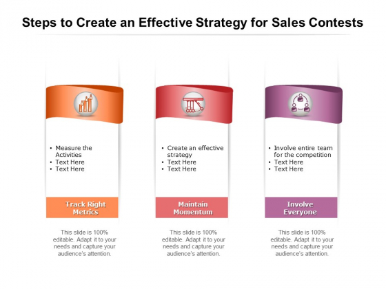 Steps To Create An Effective Strategy For Sales Contests Ppt PowerPoint Presentation Layouts Template PDF