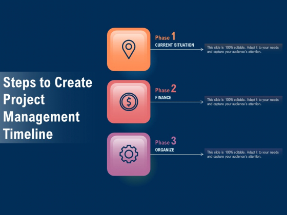Steps To Create Project Management Timeline Ppt PowerPoint Presentation Styles Picture PDF