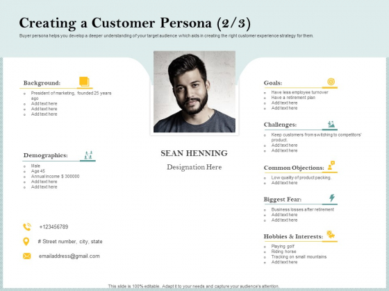Steps To Create Ultimate Client Experience Creating A Customer Persona Common Download PDF