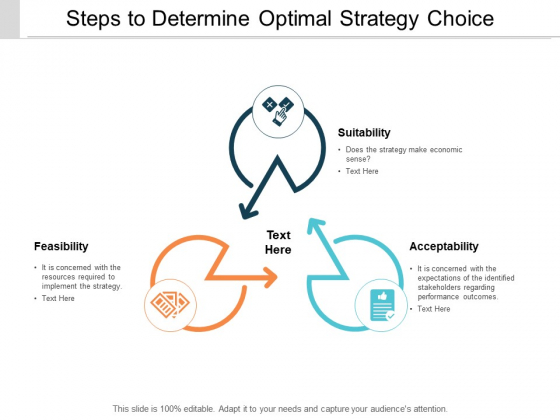 Steps To Determine Optimal Strategy Choice Ppt PowerPoint Presentation Show Good