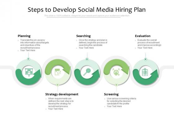 Steps To Develop Social Media Hiring Plan Ppt PowerPoint Presentation Portfolio Slideshow