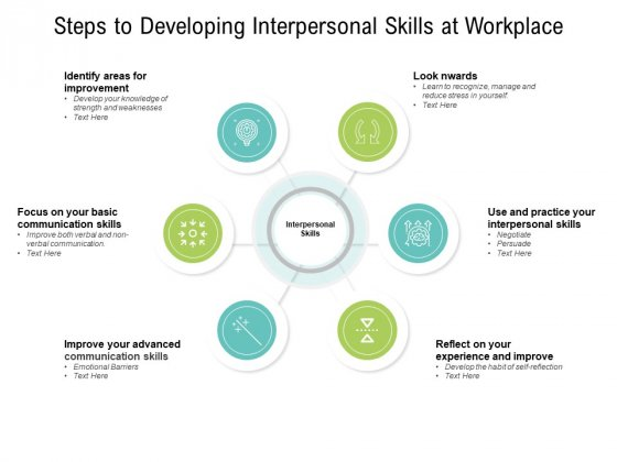 Steps To Developing Interpersonal Skills At Workplace Ppt PowerPoint Presentation Slides Samples