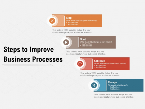 Steps To Improve Business Processes Ppt PowerPoint Presentation Summary Mockup