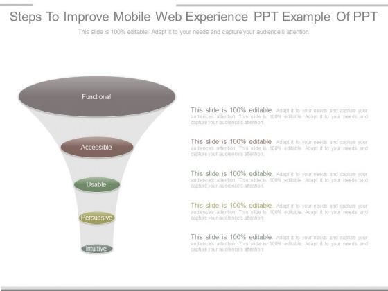 Steps To Improve Mobile Web Experience Ppt Example Of Ppt