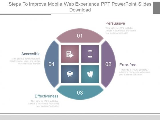 Steps To Improve Mobile Web Experience Ppt Powerpoint Slides Download