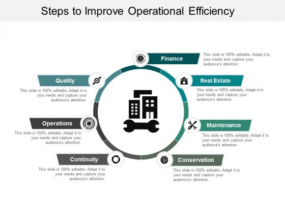 Steps To Improve Operational Efficiency Ppt Powerpoint Presentation Pictures Images