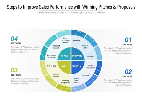 Steps To Improve Sales Performance With Winning Pitches And Proposals Ppt PowerPoint Presentation Outline Example File
