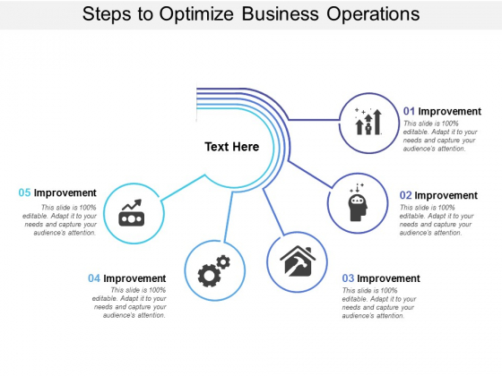 Steps To Optimize Business Operations Ppt PowerPoint Presentation Inspiration Graphics Design
