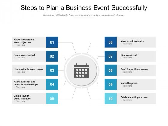 Steps To Plan A Business Event Successfully Ppt PowerPoint Presentation Inspiration Information