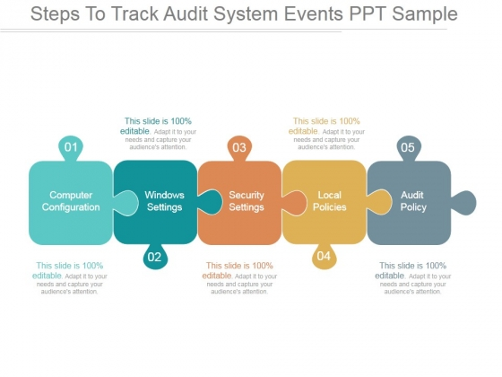 Steps To Track Audit System Events Ppt PowerPoint Presentation Summary