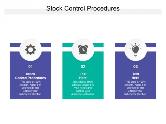 Stock Control Procedures Ppt PowerPoint Presentation Files Cpb