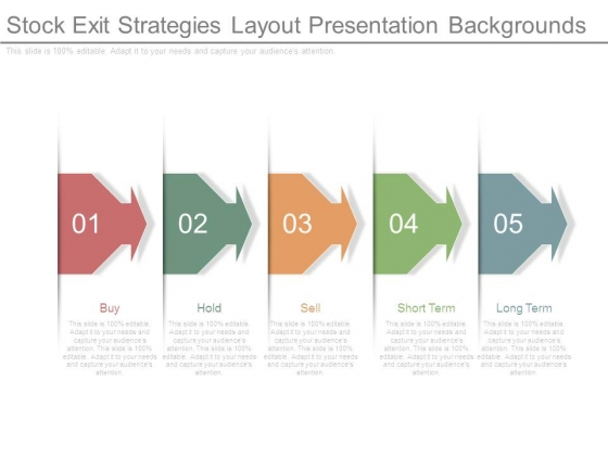 Stock Exit Strategies Layout Presentation Backgrounds
