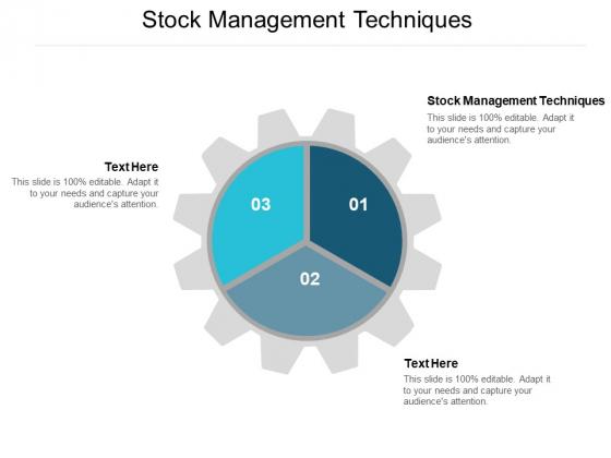 Stock Management Techniques Ppt PowerPoint Presentation Infographics Diagrams