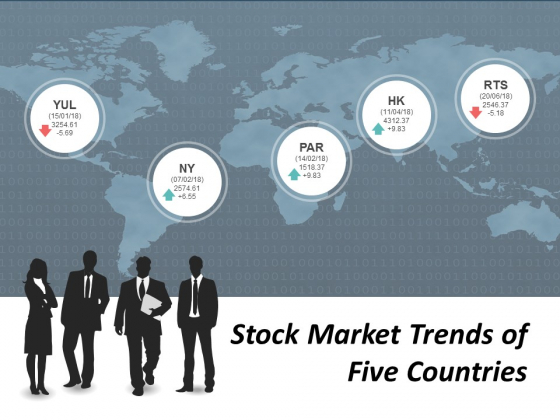 Stock Market Trends Of Five Countries Ppt Powerpoint Presentation Model Guidelines